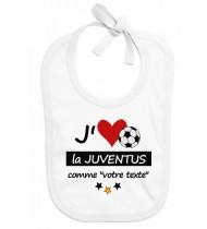 Bavoir bébé foot J'aime la Juventus
