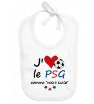 Bavoir bébé foot J'aime le PSG