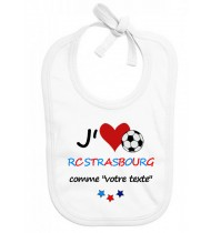 Bavoir bébé foot J'aime RC Strasbourg