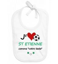 Bavoir bébé foot J'aime St Etienne