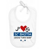 Bavoir bébé foot J'aime SC Bastia