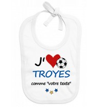 Bavoir bébé foot J'aime Troyes