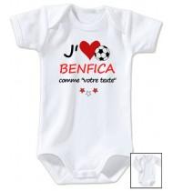Body bébé personnalisé foot J'aime Benfica