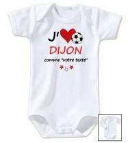 Body bébé personnalisé foot J'aime Dijon