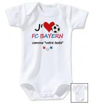 Body bébé personnalisé foot J'aime FC Bayern