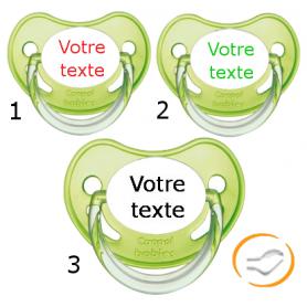 Lot de 3 Tétines personnalisées chupa verte (physiologique)
