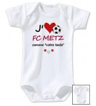 Body bébé personnalisé foot J'aime FC Metz