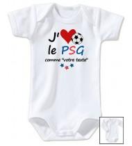 Body bébé personnalisé foot J'aime le PSG