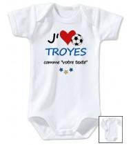 Body bébé personnalisé foot J'aime Troyes