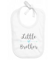 Bavoir bébé Little brother (petit frère)
