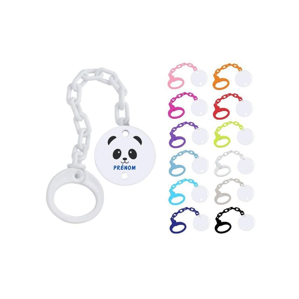 Attache tétine personnalisée Panda