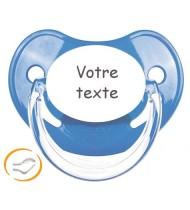 Tétine bébé personnalisée Penguins bleu