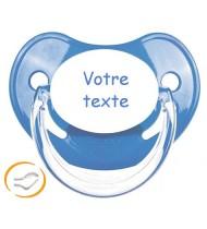 Tétine de bébé personnalisée bleu Penguins