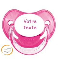 Tétine de bébé personnalisée rose Penguins