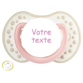 Tétine personnalisée night and day beige rose