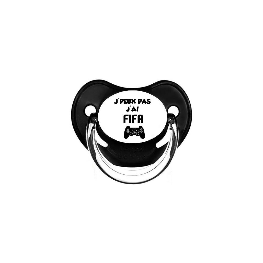 Tétine personnalisée J'peux pas J'ai FIFA
