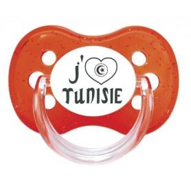 "Tétine bébé ""J'aime Tunisie"""