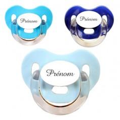 Tétines personnalisées Charme (bleu, turquoise, marine)
