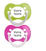 Tétines personnalisées Funny (rose, vert)