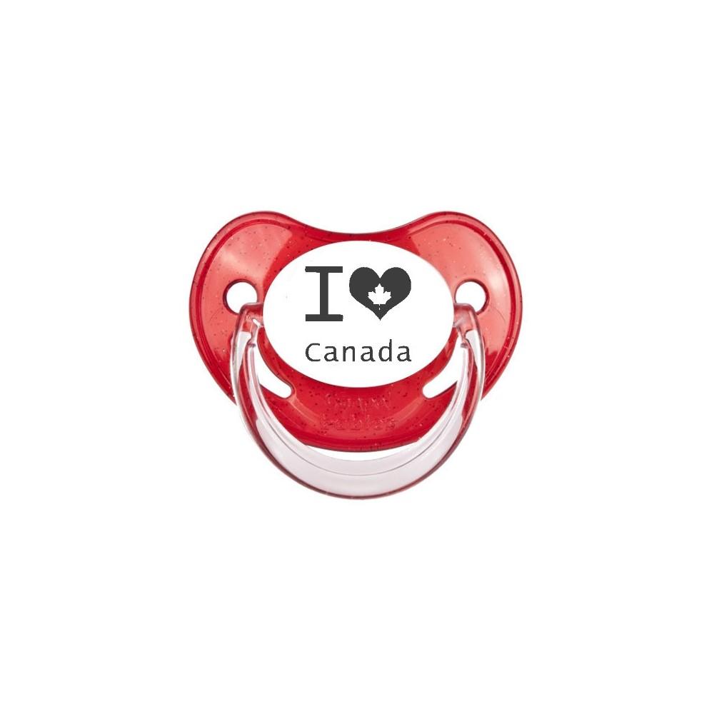 "Tétine bébé ""I love Canada"""