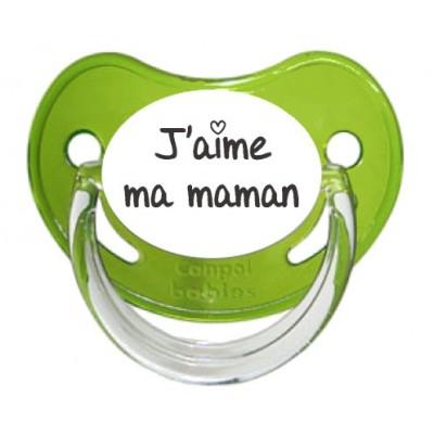 Tétine J'aime ma maman (visuel)