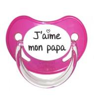 Tétine J'aime mon papa (visuel)