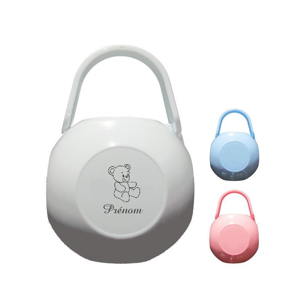 Boite à tétine personnalisée logo ours