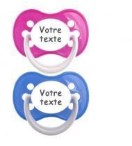 Tétines personnalisées Funny (rose, bleu)