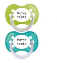 Tétines personnalisées Funny (turquoise, vert)