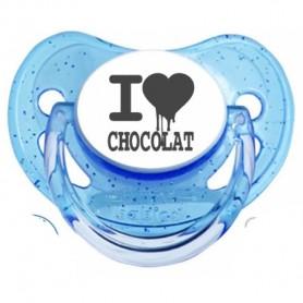"Tétine bébé ""I love chocolat """
