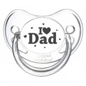 "Tétine bébé originale ""I love Dad"""