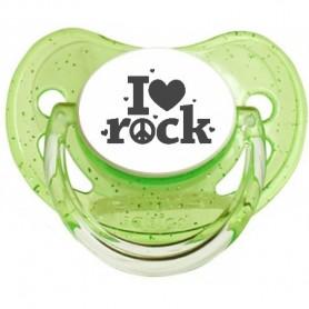 """Tétine bébé originale """"I love Rock"""""""