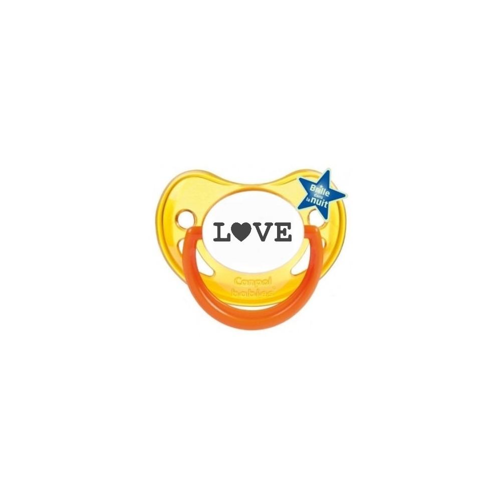 """Tétine bébé originale """"love"""""""
