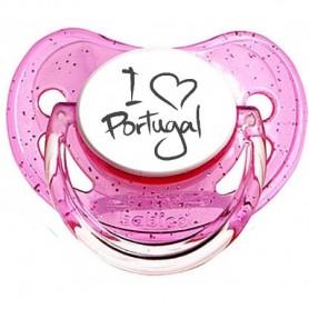 """Tétine bébé originale """"I love portugal"""""""