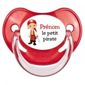 """Tétine personnalisée """"Prénom Petit Pirate"""""""