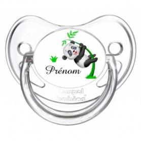 Tétine personnalisée panda et prénom