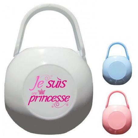 Boîte à tétine personnalisée je suis une princesse