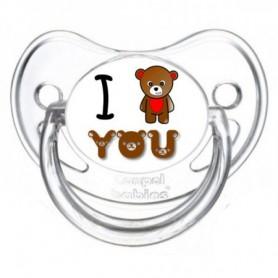 Tétine personnalisée I love you ours