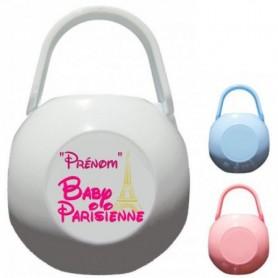 Boîte à tétine personnalisée Baby Parisienne Prénom