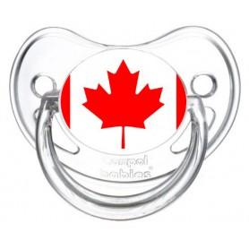 Tétine personnalisée drapeau Canada