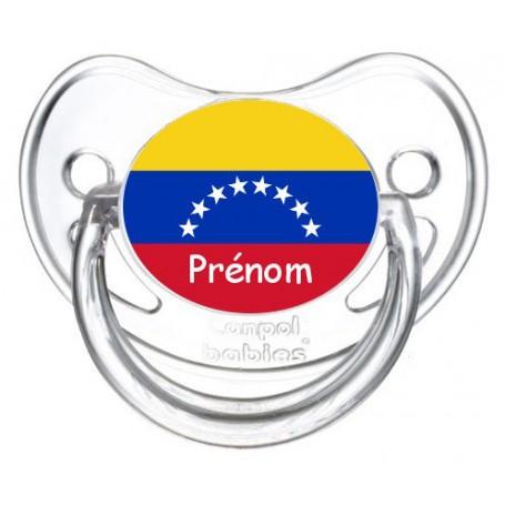 Tétine personnalisée drapeau Vénézuéla et prénom