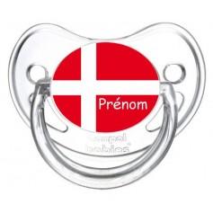 Tétine personnalisée Danemark et prénom