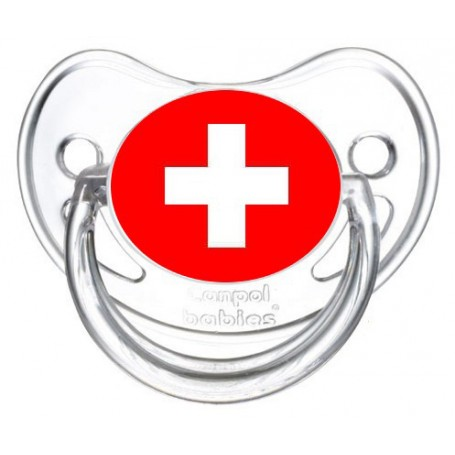 Tétine personnalisée drapeau suisse