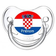 Tétine personnalisée drapeau Croatie et prénom
