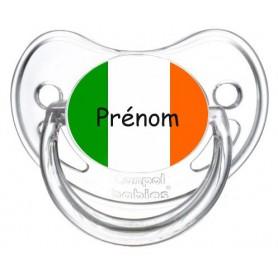 Tétine personnalisée drapeau Ireland et prénom