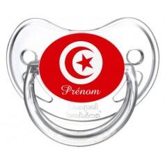 Tétine personnalisée drapeau Tunisie et prénom