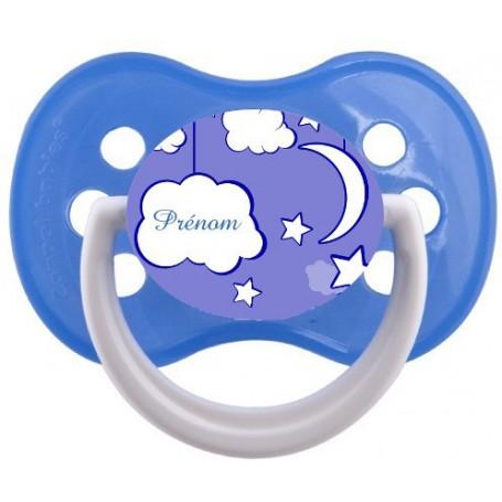 Tétine personnalisée nuage et prenom modele 2