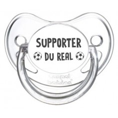 Tétine foot Supporter Real Madrid