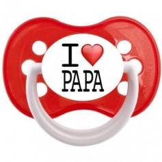 """Tétine bébé """"I love Papa"""""""