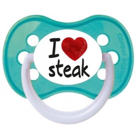 "Tétine bébé ""I love steak"""